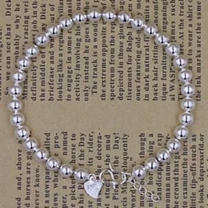NEW 925 STERLING SILVER PLATED BEAD BRACELET